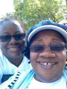 Commemorating the 50th Anniversary of the March on Washington with my Mom, who still believes my gift isn't my brain.